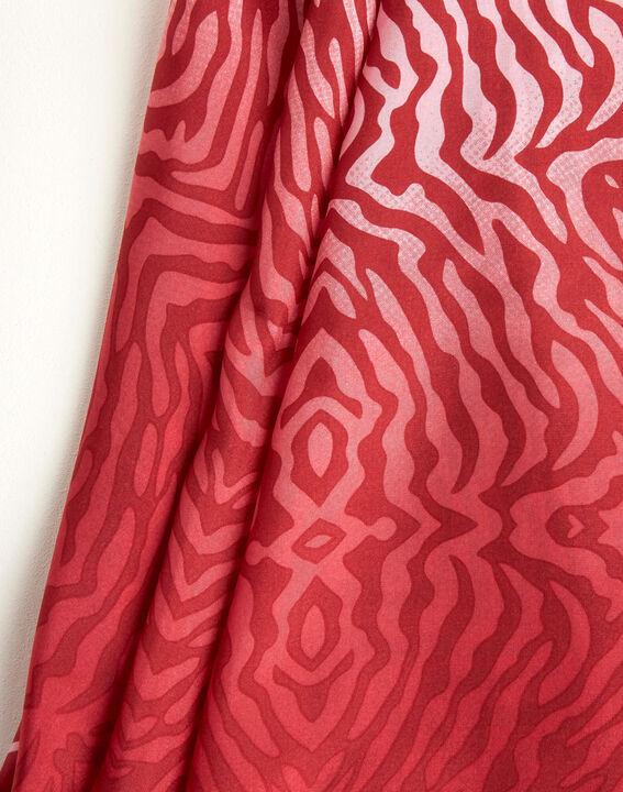 Carré de soie imprimé peau de bête rouge Anouk PhotoZ | 1-2-3