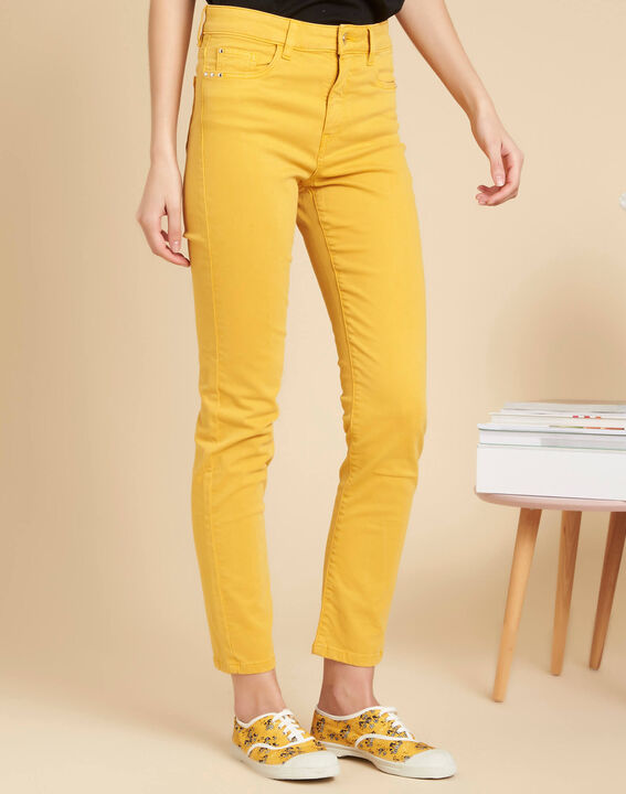 Jean slim délavé jaune taille normale Vendome (3) - 1-2-3