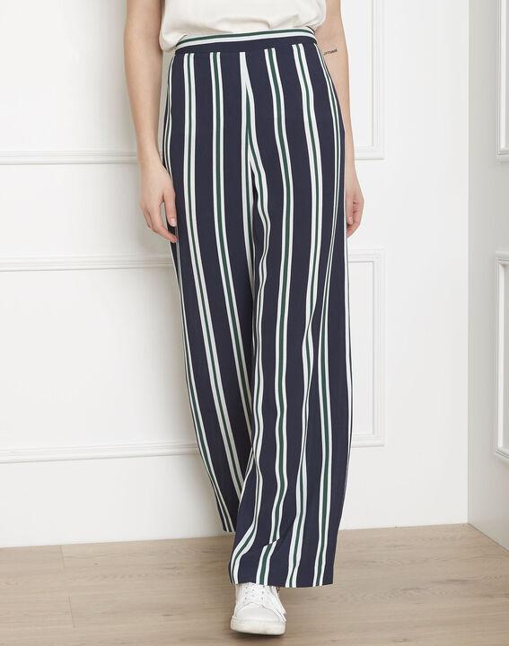 Pantalon marine rayé Griffon (2) - Maison 123