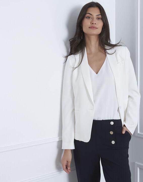 Weiße Jacke mit Schal-Kragen Sabrina (2) - Maison 123