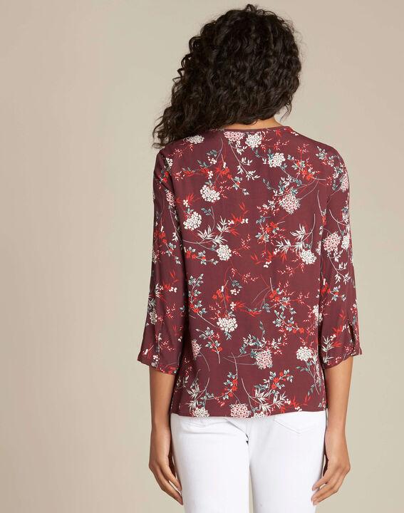 Anouchka burgundy printed blouse (4) - 1-2-3