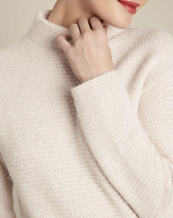 Nude trui met ronde kraag Blush (2) - 37653