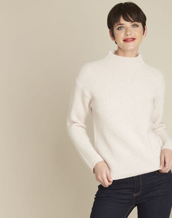 Blush nude round neck pullover powder.
