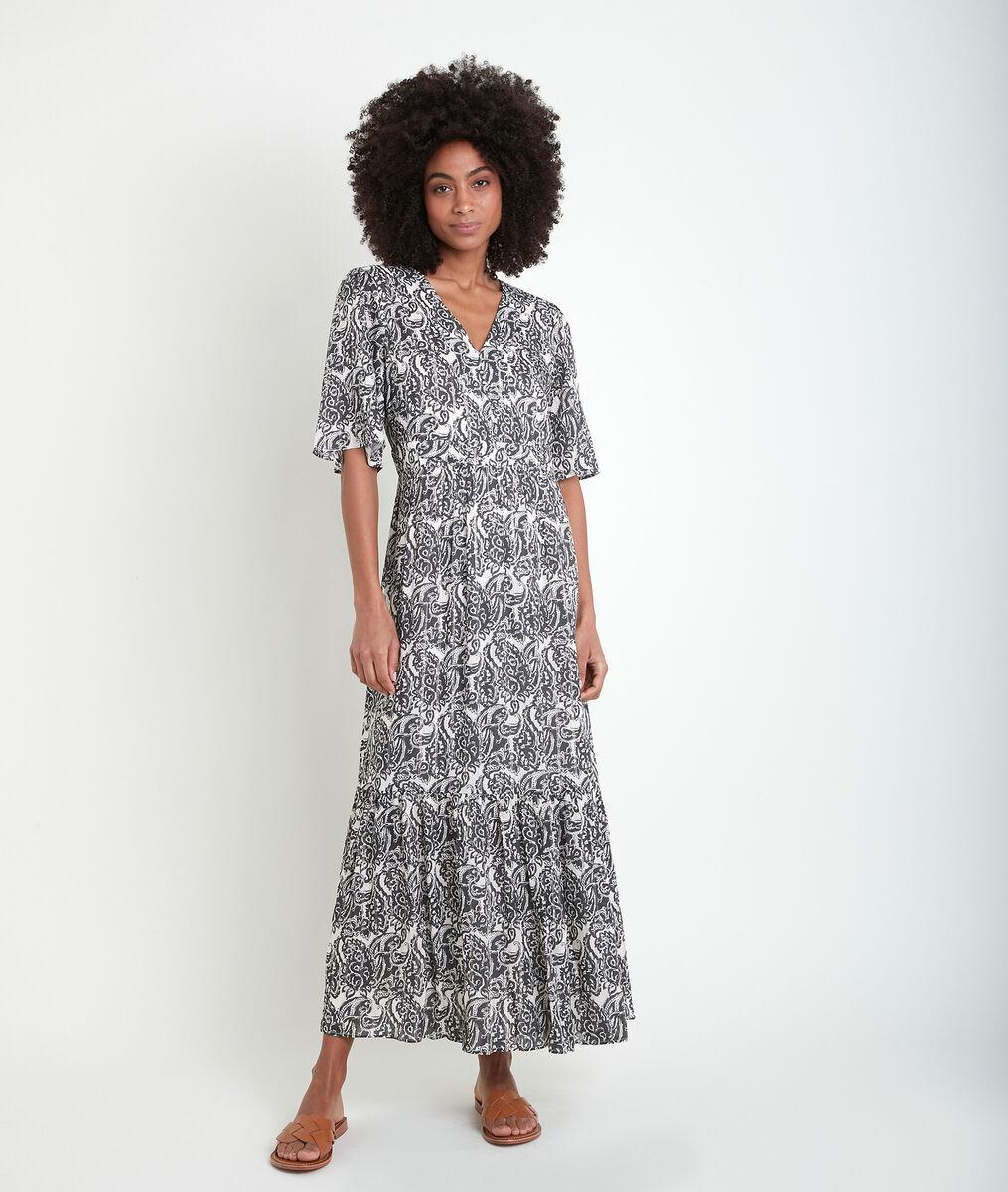 Robe longue imprimée Ludine PhotoZ | 1-2-3