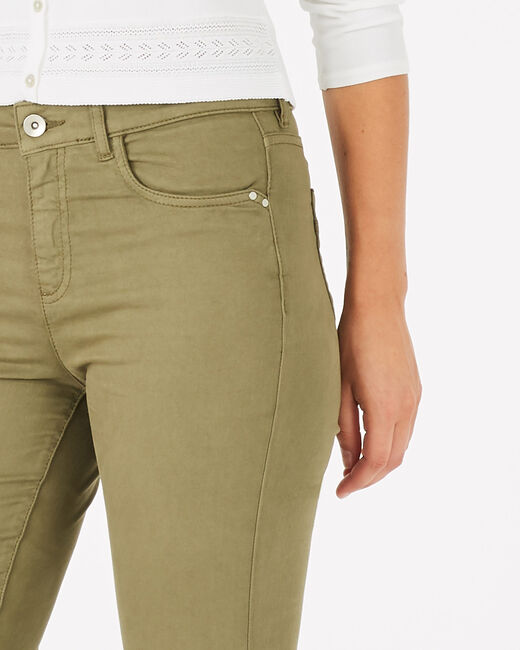 Oliver khaki 7/8 length trousers (2) - 1-2-3