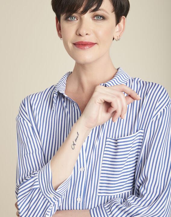 Darwin striped blouse in an oversized cut (2) - 1-2-3
