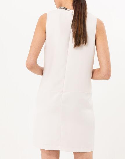 Robe poudre bi-matière avec col bijou Flo (4) - 1-2-3