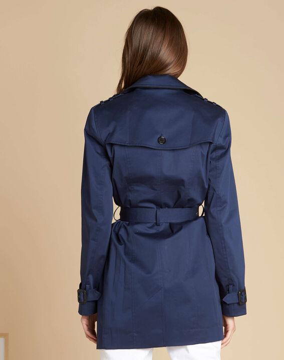 Kate dark indigo braided trench coat (4) - 1-2-3