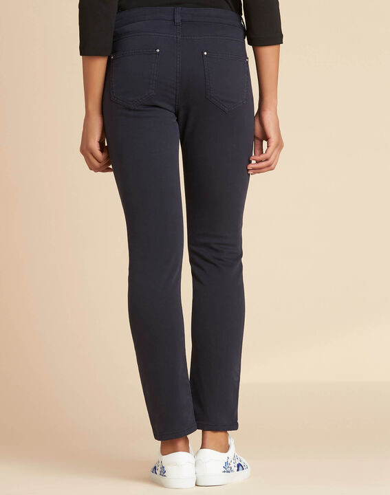 Marineblaue Slim-Fit-Jeans normale Leibhöhe Vendome (4) - 1-2-3