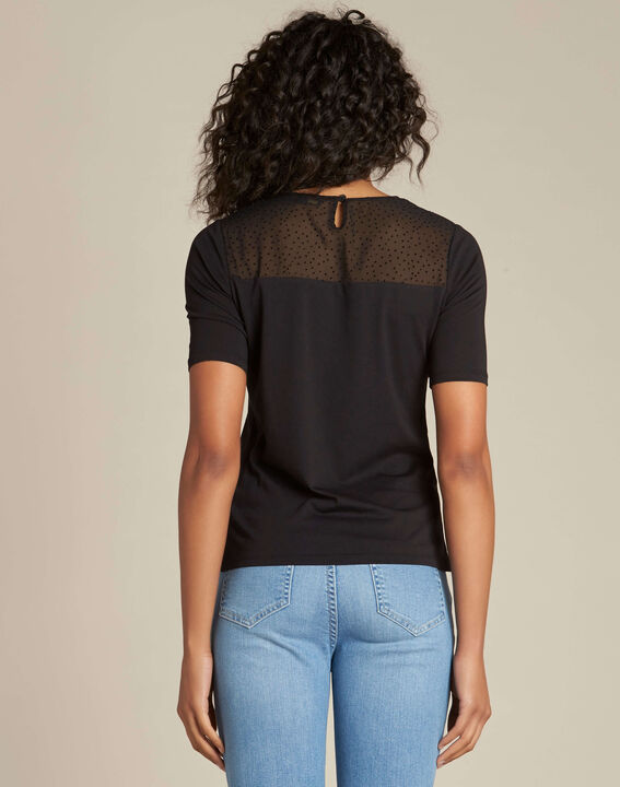 Elouise black T-shirt with bow (4) - 1-2-3