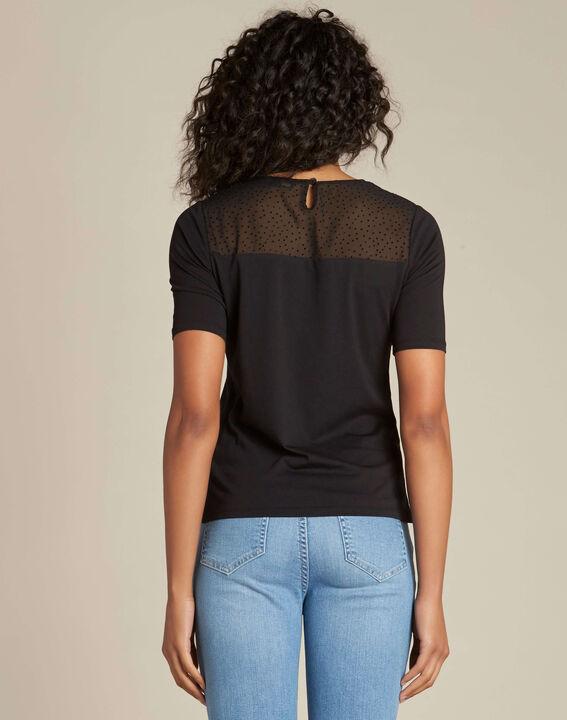 Schwarzes T-Shirt mit Schleife Elouisa (4) - 1-2-3