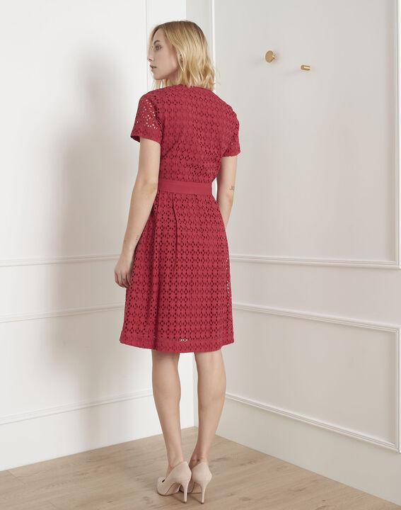 Robe rouge en dentelle cintrée Loreta (4) - Maison 123