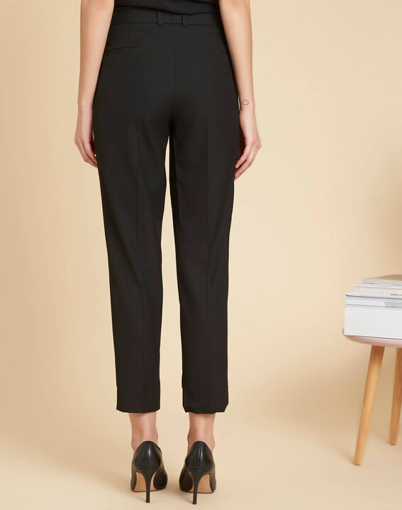 Sama tailored black trousers with cutouts along the hems (4) - 1-2-3