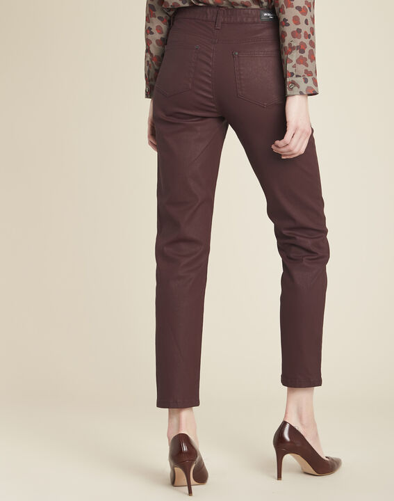 Vendôme 7/8 length burgundy coated jeans (4) - 1-2-3