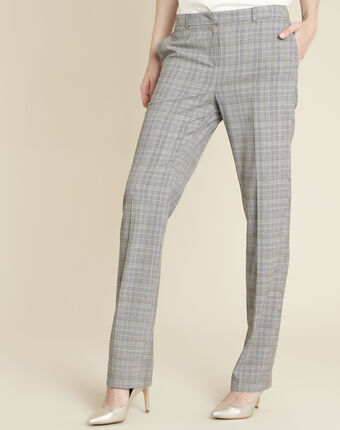 Natura grey trousers with prince of wales design mid chine.