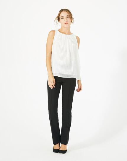 Top blanc plissé Erica PhotoZ | 1-2-3