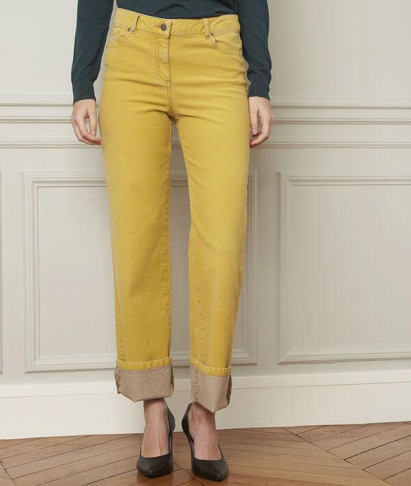 Jean jaune délavé évasé en coton Chica PhotoZ | 1-2-3