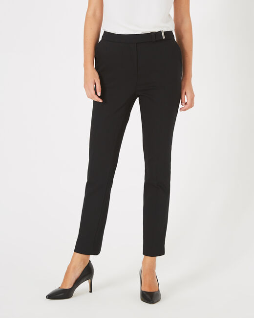 Pauline black, tailored trousers with a buckle (1) - 1-2-3