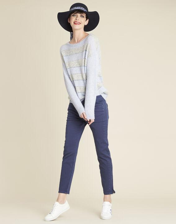 Kobaltblauwe slim fit jeans met ritsen Opera (2) - 37653