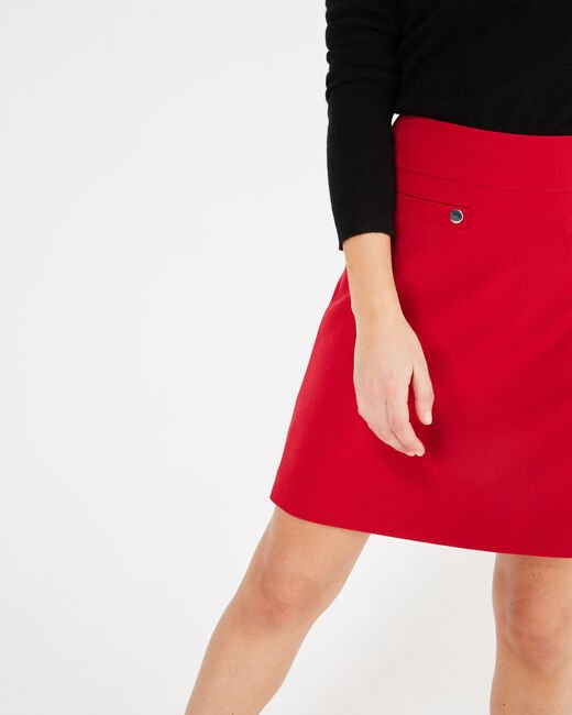 Fama red skirt with studs (2) - 1-2-3