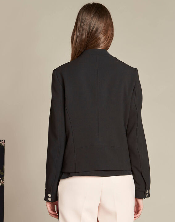 Chataigne fitted bomber-style black jacket (4) - 1-2-3