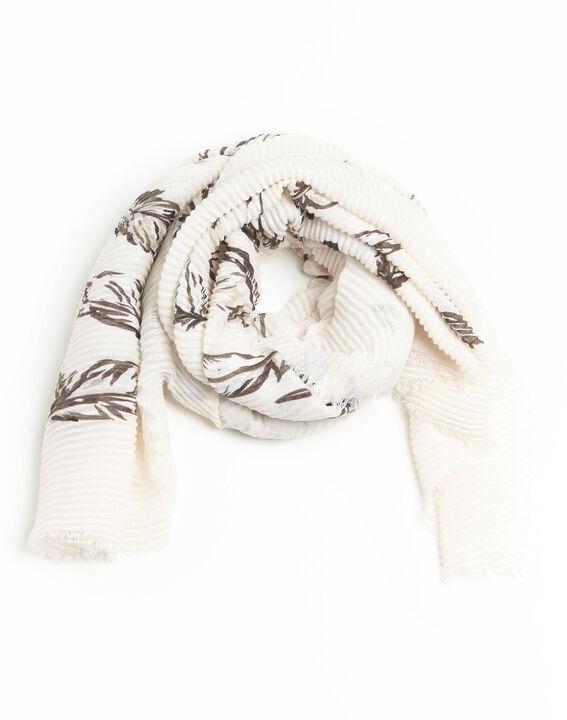Nude sjaal met print Flute (1) - 37653