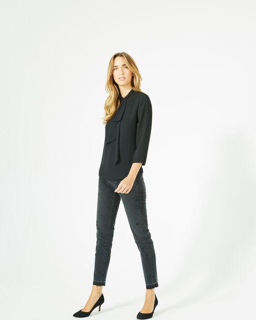 Tee-shirt noir à volants Bulle (1) - 1-2-3