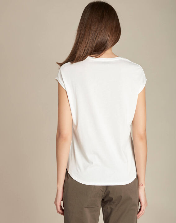Ecrufarbenes T-Shirt Ananas Emerveille (4) - 1-2-3