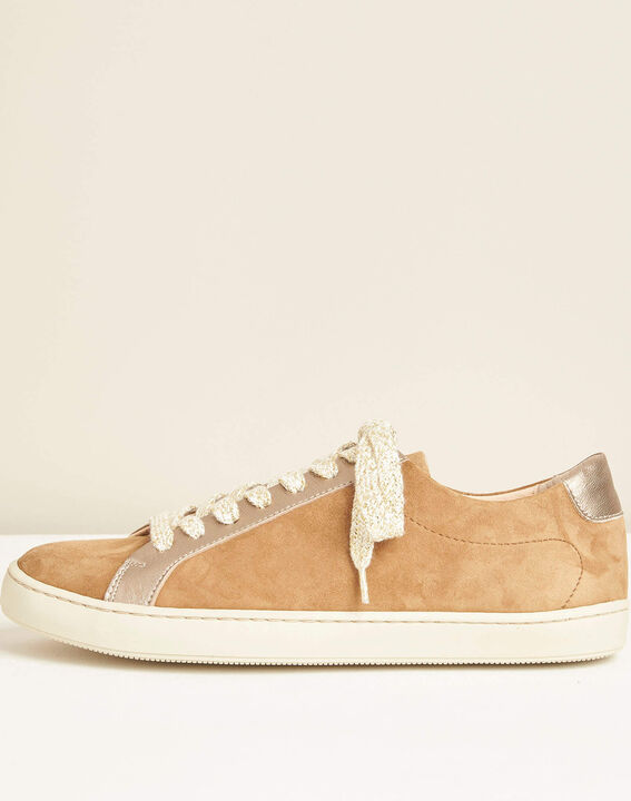 Kamille dual-fabric camel trainers PhotoZ | 1-2-3