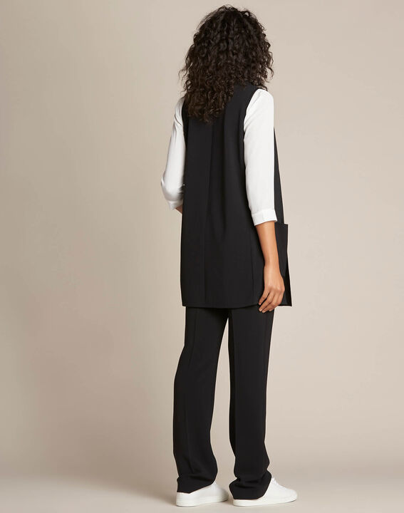 Night long black sleeveless jacket (4) - 1-2-3