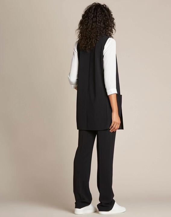 Veste longue noire sans manches Night (4) - 1-2-3