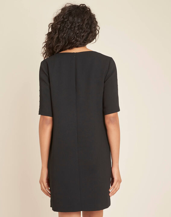 Schwarzes Krepp-Kleid Plume (4) - 1-2-3