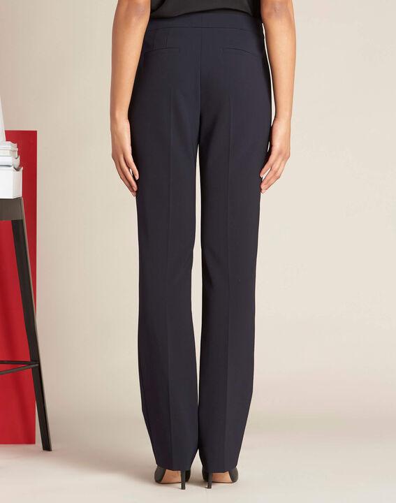 Vasco navy blue straight-cut trousers (4) - 1-2-3