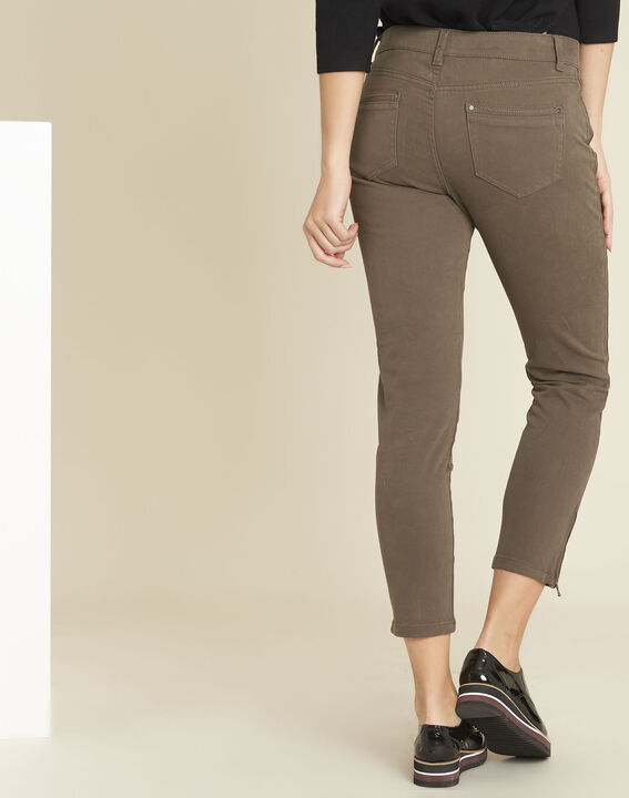 Opéra slim-cut khaki jeans with zip detailing (4) - 1-2-3