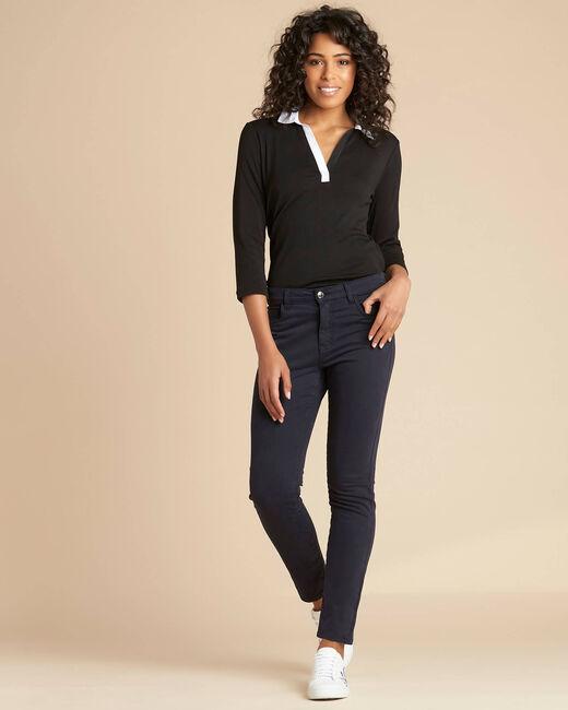 Marineblaue Slim-Fit-Jeans normale Leibhöhe Vendome (1) - 1-2-3