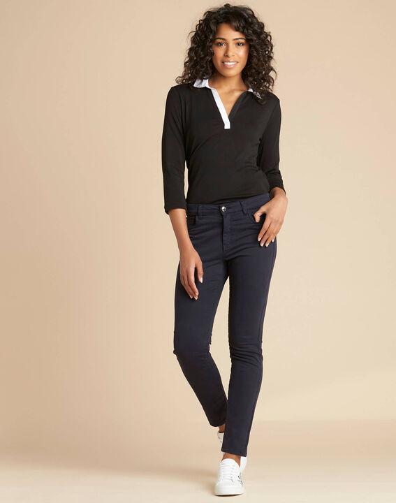 Vendôme slim-cut standard size navy blue jeans (2) - 1-2-3