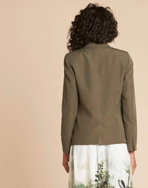Demoiselle jacquard effect khaki jacket (4) - 1-2-3