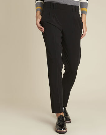 Fleurette black dart trousers with cigarette cut black.