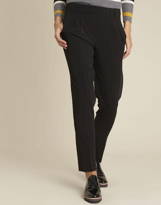 Fleurette black dart trousers with cigarette cut PhotoZ | 1-2-3