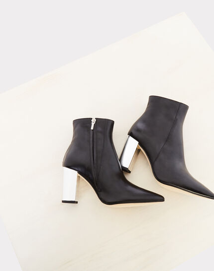 aaa66f49650 Noor black ankle boots with silver heels - 123