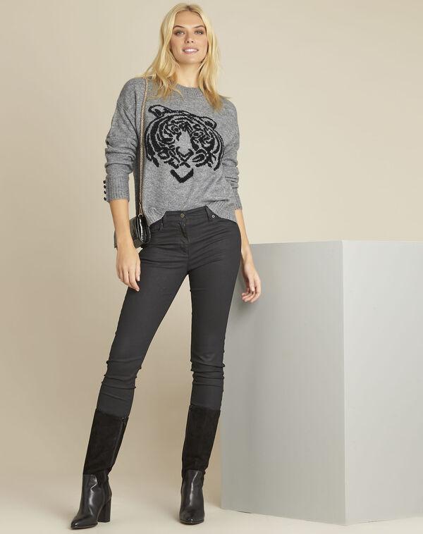 Pull gris imprimé tigre Bonobo (2) - 1-2-3