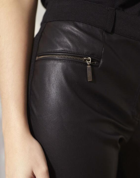 Zwarte slim-fit broek in milano Hectorine (3) - Maison 123