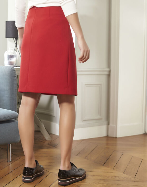 Jane red A-line skirt (4) - 1-2-3