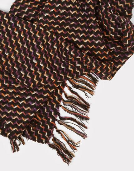 Schwarzer Tweed-Schal Eliott (1) - 1-2-3