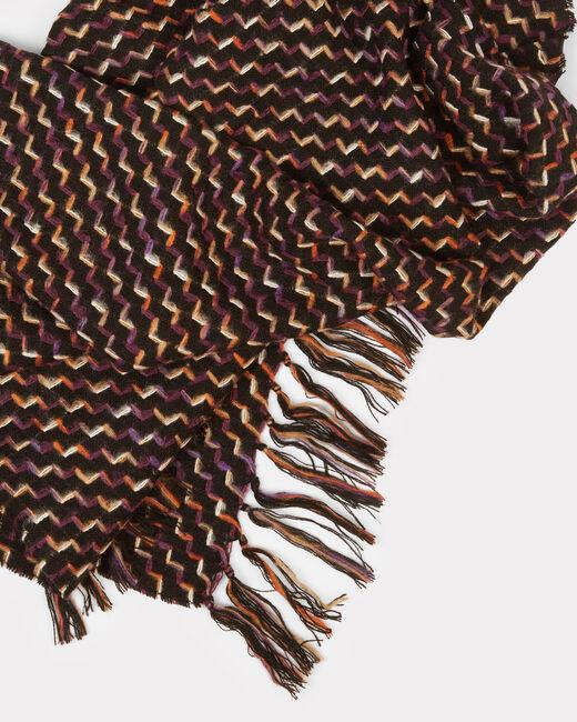 Schwarzer Tweed-Schal Eliott (2) - 1-2-3