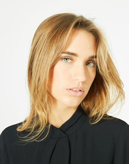 Tee-shirt noir à volants Bulle (4) - 1-2-3
