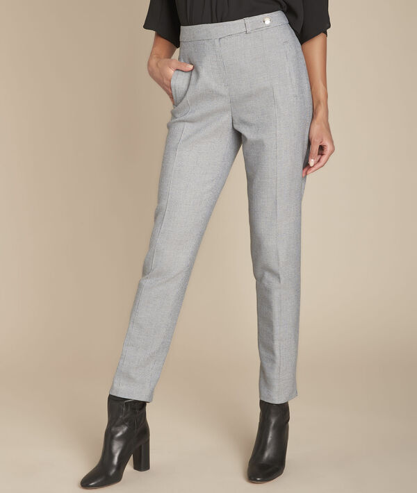 Pantalon gris chiné cigarette Eloi PhotoZ | 1-2-3