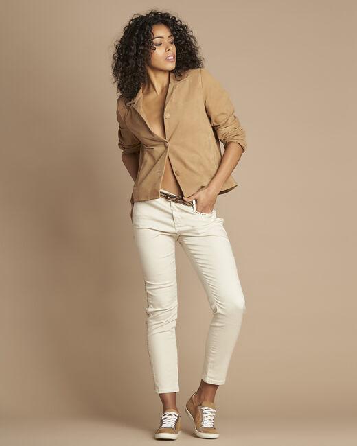 Tilane short camel suede jacket (1) - 1-2-3