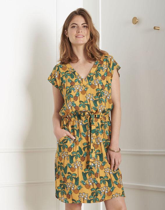 Robe jaune imprimé ananas Lulano (1) - Maison 123