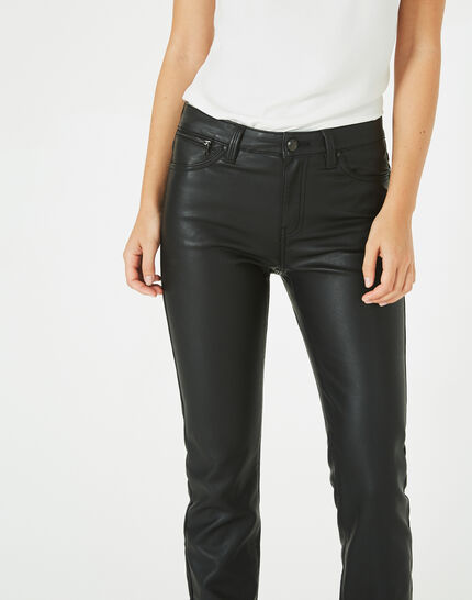 Pantalon noir slim faux cuir William (2) - 1-2-3